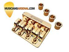 Babicz Full Contact Hardware 4-String Through Bass Bridge, Gold *SALE*