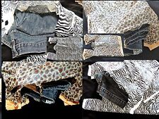 50 Zebra and leopard Plastic T-Shirt Bags 11 x21  Wholesale Animal Gift Bags