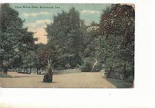 Glen Miller Park  Richmond IN   Mailed 1912  Postcard 753