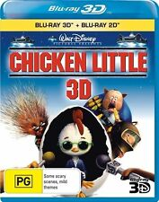 Chicken Little 3D & 2D (Blu-ray 2-Disc, 2011) New & Sealed [Disney Movie]