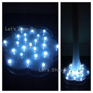 """5 (22) LED WHITE 6"""" Wide Base Light Wedding Centerpiece Eiffel Tower Vase Decor"""