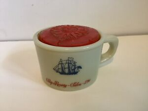 Old Spice Shaving Mug with Soap And Cover Ship Recovery Salem 1794