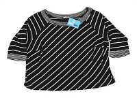 Essence Black Striped Womens Top Size 30 (Regular)