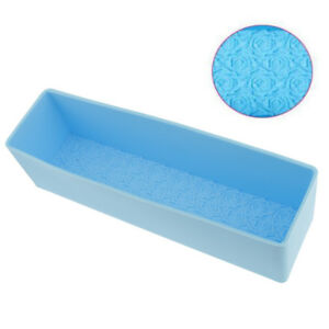 Silicone DIY Rectangle Loaf Soap Mold Rose Flowers Soap Making Moulds Tools