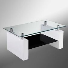 Less than 60cm High Glass Modern Coffee Tables with Shelves