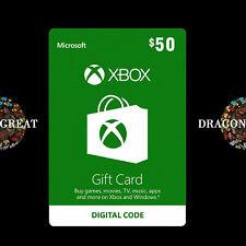 $50 XBOX Live Digital Key -  Xbox One / Xbox 360 $50 USD - US Gift Card [US]