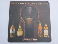 Beer Bar Coaster ~ SINGLE POT Still Irish Whiskey: Powers, Middleton, Redbreast