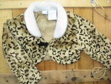 Disney Girls size 24 Months Cheetah Animal Print Faux Fur Coat Bh104