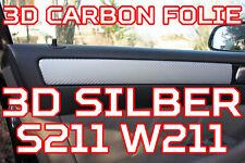 Mercedes Benz E-Klasse W211 S211 3D CARBON ZIERLEISTEN SET  3D CARBON SILBER