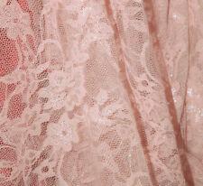 TISSU DENTELLE ELASTIQUE POLYESTER/ELASTHANE ROSE CLAIR au METRE