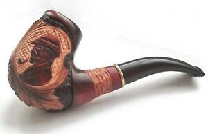 Favourite Ukraine Smoking Pipes Hand carved SMOKING PIPE Sherlock Holmes for 9mm