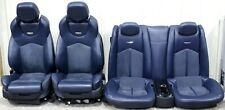 2009-2015 Cadillac CTS-V Coupe Blue Leather w/ Suede Recaro Seat Set USED OEM GM