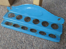 blaue Emaille Vintage Board - Kellenhalter Regal für Kelle Kochlöffel old enamel
