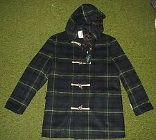 $395. (M) Men's RALPH LAUREN Tartan Plaid Hooded Wool Toggle Coat (polo)