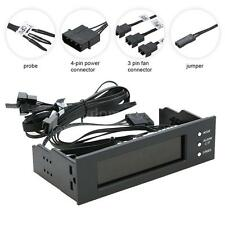 PC CPU HDD 3 Channel Fan Controller Automatic Speed Control LCD Monitor New T1Q3