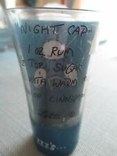 Lolita Night Cap 2oz Shot glass w/ recipe hand painted Counting Sheep