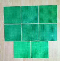 8 Genuine Lego 16 x 16 Baseplate Base Boards 6 Green 2 Bright Green