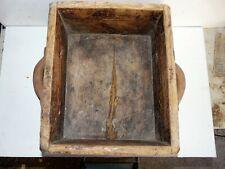 Ancienne mesure à grains en bois 2 poignées art populaire Ariège