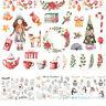 Elk/Snowman/Santa Claus Christmas Uncut Stickers Craft Diary Xmas Album Note Hot