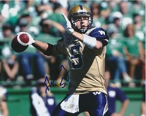 Drew Willy Winnipeg Blue Bombers CFL autographed signed 8x10 Photograph w/COA