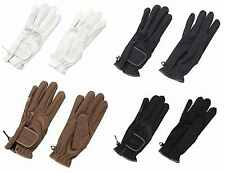 NEW ~ ** HARRY HALL** WHITE DOMY SUEDE HORSE RIDING GLOVES~ SIZE SMALL~DRESSAGE