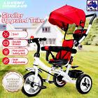 5 in 1 Kids Toddler Pram Stroller Tricycle Reverse Trike Red Ride On Toy TDA1158