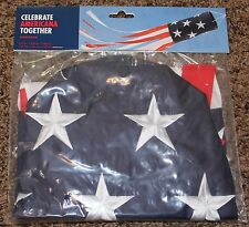"""NEW polyester AMERICAN WINDSOCK patriotic RED white BLUE star 5.5"""" x 5.5"""" x 48"""""""