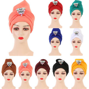 Muslim Women Hijab Hat Turban Headscarf Wrap Bonnet Chemo Cap Cancer Islamic New