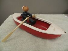 Woodette Coast Guard USCG Wood Figure Toy Rowboat