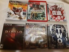 Playstation 3 PS3 Lot Of 6 Games Twisted Metal  Uncharted 3  Uncharted the Club