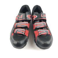 LAKE Cycling Shoes Men's Size US 8-8.5/ EU 42 Road Bike Black Red White Velcro
