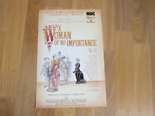 A Woman of no Importance by Wilde 1992 Original Theatre Royal GLASGOW Poster