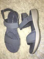 Easy Spirit Women's Draco Wedge Sandals BLUE SZ 8 W