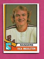 1974-75 OPC # 304 RANGERS RICK MIDDLETON ROOKIE EX-MT CARD (INV# D3010)