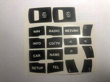 AUDI A6 4F C6,AUDI Q7,Pegatinas Restaurar Botones Consola mmi Frenó STICKERS