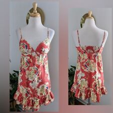 100% Silk | Heritage 1981 | Floral Vneck Mini Dress | Women's Size Small