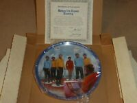 Star Trek TOS Hamilton Collection Plate Beam Us Down Scotty 2010P 1983 COA