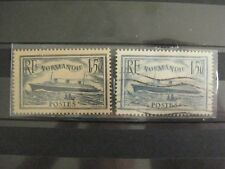 timbres français :  paquebot Normandie 1934  YT n° 299* à 300 (o)