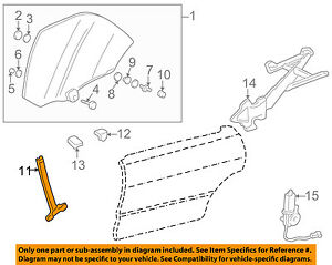 Acura HONDA OEM 94-01 Integra Glass-Rear Door-Guide Channel Right 72747SL4023