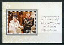 Jersey 2017 MNH Queen Elizabeth II Philip Platinum Wedding 1v M/S Royalty Stamps