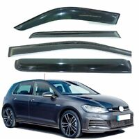 Fit VW GOLF MK7  year 13 to 18 WINDOW DEFLECTOR VISOR VENT SHADE SUN GUARD BLACK