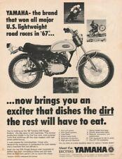 1968 Yamaha 250 Single Enduro Exciter - Vintage Motorcycle Ad