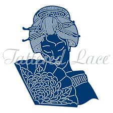 Tattered Lace Hermoso abanico geisha Die-TLD0457-de la Colección Oriental