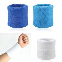 2X Sport Sweatbands Wristband Tennis Squash Badminton Gym Football Wrist Band ED