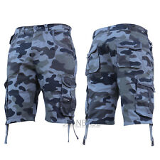 Crosshatch Mens Shorts Camo Combat Cargo Army Camouflage Gym Summer Jeans Pants