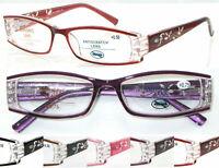 R441 Superb Quality Women Reading Glasses/UV400 Sunglasses/Spring Hinge/Diamante