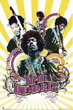 Jimi Hendrix ~ Rays Collage 24x36 Music Poster New/Rolled!