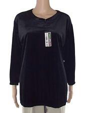 maglia donna nero vellutino taglia xl extra large