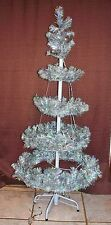 """Dept 56 Christmas Lighted Silver Aluminum Tree W/Box 50"""" Indoor/Outdoor (ACS)"""