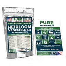 40 Heirloom Non-GMO Fresh Vegetable Fruit Seeds Emergency Survival Garden Food